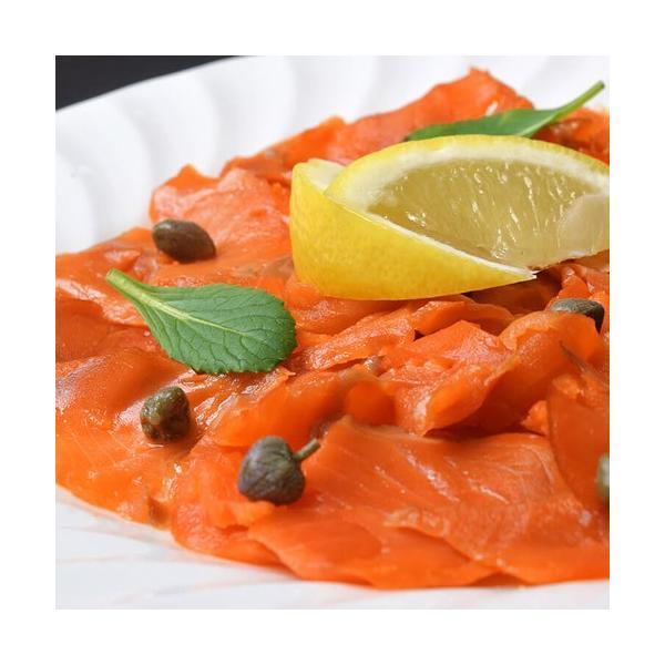 鮭 お刺身 送料無料 紅鮭 スモークサーモン 切り落とし 300g×2パック 計600g tsukiji-ichiba2 02