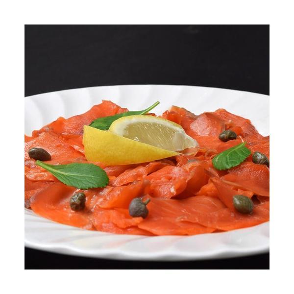 鮭 お刺身 送料無料 紅鮭 スモークサーモン 切り落とし 300g×2パック 計600g tsukiji-ichiba2 04