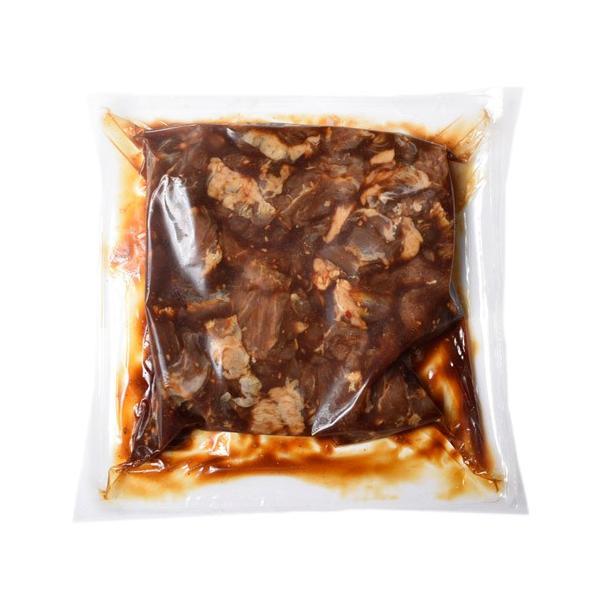 ハラミ 牛肉 ちょっと 訳あり タレ漬け牛ハラミ 500g×2袋 計1キロ 焼き肉 焼肉 切り落とし 送料無料 冷凍同梱可能|tsukiji-ichiba2|03