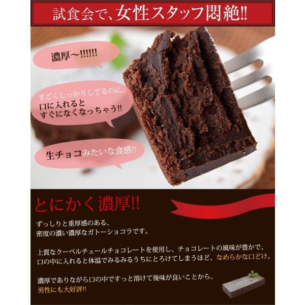 チョコレート ケーキ クーベルチュール チョコレート使用 濃厚 ガトーショコラ 1本 270g 冷凍同梱可能|tsukiji-ichiba2|03