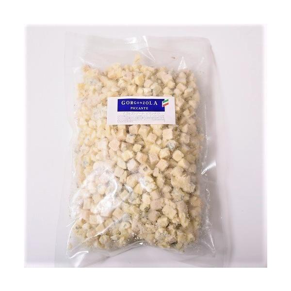 チーズ ブルーチーズ ゴルゴンゾーラ ピカンテ クランブル 大容量 1キロ 500x2袋 ナチュラルチーズ 送料無料 冷凍同梱可能|tsukiji-ichiba2|02