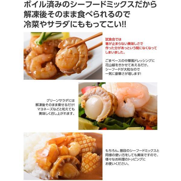 魚介 シーフードミックス さらりとシーフード いか ほたて えび 入り 1キロ 500g×2P 冷凍同梱可能|tsukiji-ichiba2|07