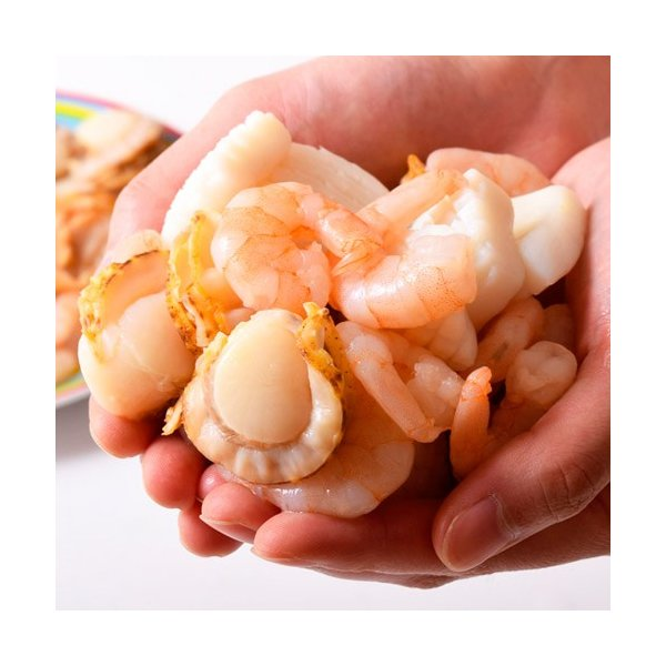 魚介 シーフードミックス さらりとシーフード いか ほたて えび 入り 1キロ 500g×2P 冷凍同梱可能|tsukiji-ichiba2|09