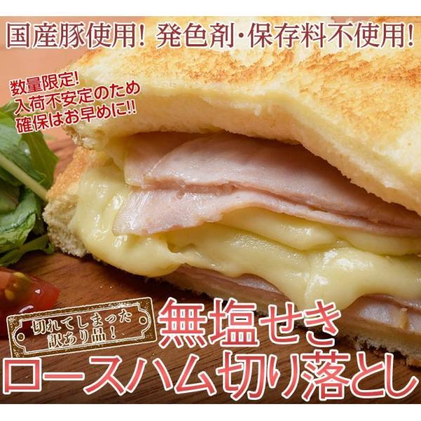 ハム ロース 豚 肉 訳あり 無塩せき ハム切り落とし 1キロ 送料無料 冷凍 同梱不可 tsukiji-ichiba2 02