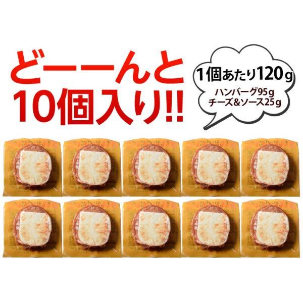 ご飯のお供 送料無料トマトソース ハンバーグ 120g×10個 チーズ ごはんのおとも 冷凍 同梱不可|tsukiji-ichiba2|03
