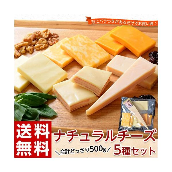 チーズ 訳あり 不揃い ナチュラルチーズ5種セット 500g おつまみ 冷凍同梱可 冷凍 送料無料