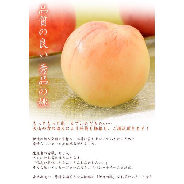 もも モモ 桃 ギフト 伊達の桃 秀品 福島県産 送料無料 約1.5kg(5〜10玉)|tsukiji-ichiba2|02