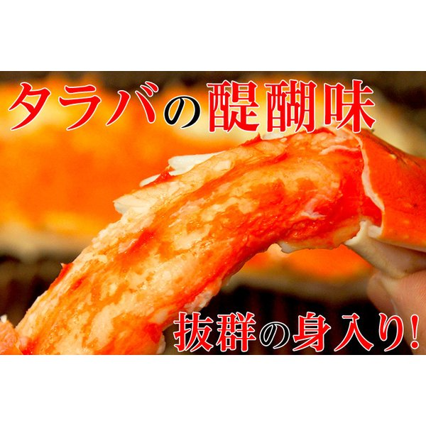 タラバ蟹 タラバガニ たらばがに ロシア産 特大 ボイル 約800g×2肩 合計1.6kg 4人前相当 送料無料 冷凍 たらば蟹 かに カニ 脚 タラバ|tsukiji-ichiba2|06