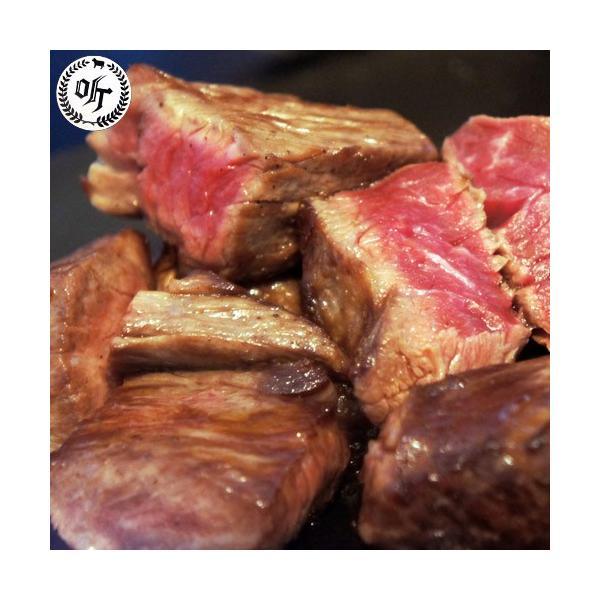 牛肉 ステーキ 熟成牛 専門店ポンド 熟成黒毛和牛 サイコロステーキ 約250g 送料無料 冷凍