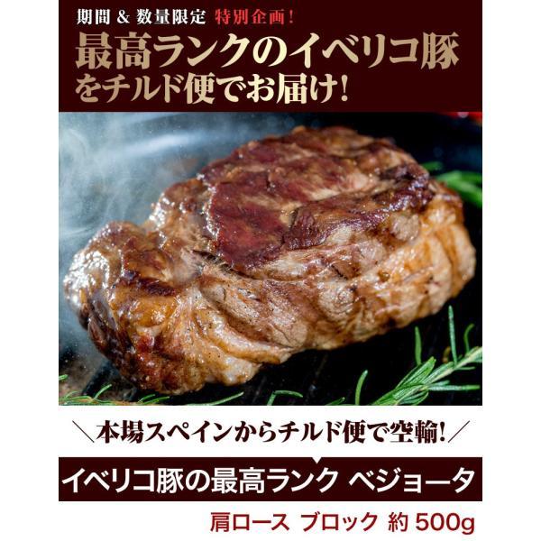 生イベリコ豚 ベジョータ 肩ロース ブロック 約500g スペイン産 フレッシュ イベリコ 豚肉 冷蔵 同梱不可 tsukiji-ichiba2 02