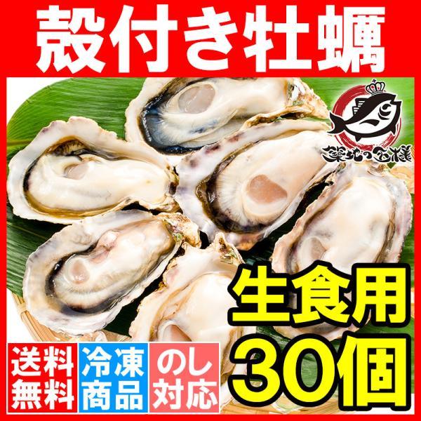 生牡蠣 殻付き 生食用カキ 生牡蠣 30個入り 冷凍殻付き牡蠣 生食用 新製法で冷凍なのに生食可能な殻付き牡蠣で濃厚な風味