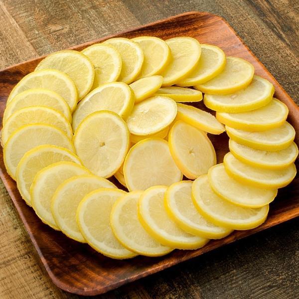冷凍レモン スライス 500g×2パック 合計1kg 輪切り カット済み レモン スライス レモンサワー レモネード フルーツジュース はちみつレモン レモンティー|tsukiji-ousama|02