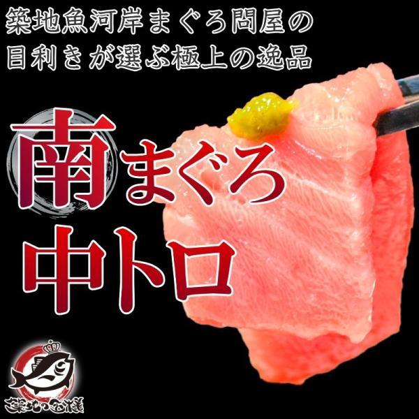 (マグロ まぐろ 鮪) ミナミマグロ 中トロ 200g (南まぐろ 南マグロ 南鮪 インドまぐろ 刺身)|tsukiji-ousama|02