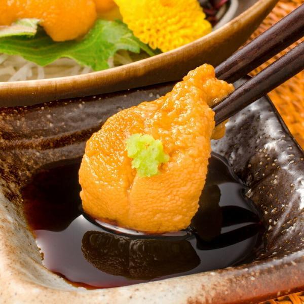 生ウニ 生うに 冷凍 無添加 天然 300g 100g×3パック(ウニ うに 雲丹)|tsukiji-ousama|06