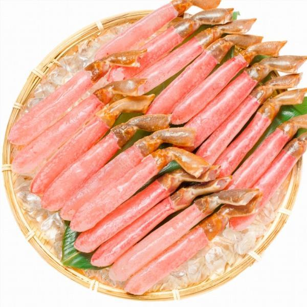 かにしゃぶ ズワイガニ ポーション ずわいがに 生ズワイガニ 刺身 むき身 3L 500g BBQ バーベキュー かに カニ 蟹 刺身 カニ鍋 焼きガニ|tsukiji-ousama|03