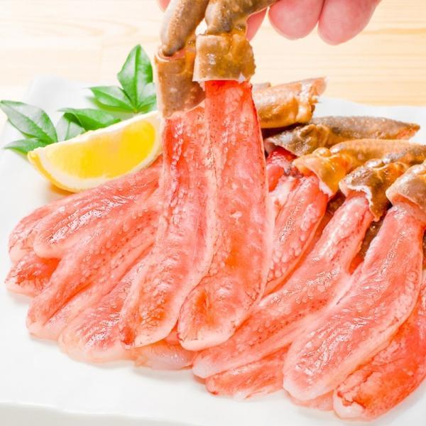 かにしゃぶ ズワイガニ ポーション ずわいがに 生ズワイガニ 刺身 むき身 3L 500g BBQ バーベキュー かに カニ 蟹 刺身 カニ鍋 焼きガニ|tsukiji-ousama|05