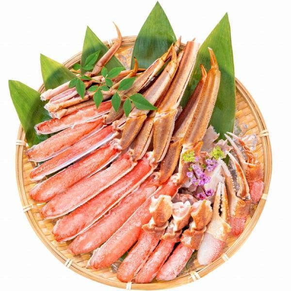カット済み ズワイガニ ずわいがに セット 冷凍総重量約1.25kg 解凍時約 1kg かに鍋 かにしゃぶ お刺身 ポーション かに カニ 蟹 詰め合わせ|tsukiji-ousama|03