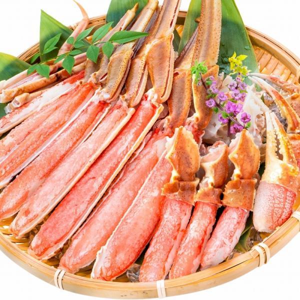 カット済み ズワイガニ ずわいがに セット 冷凍総重量約1.25kg 解凍時約 1kg かに鍋 かにしゃぶ お刺身 ポーション かに カニ 蟹 詰め合わせ|tsukiji-ousama|05