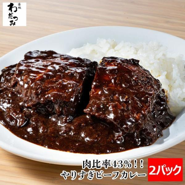 肉比率43%のやりすぎビーフカレー2人前230g×2パック(牛肉100g/1パック)ビーフカレービーフシチューデミグラスソース