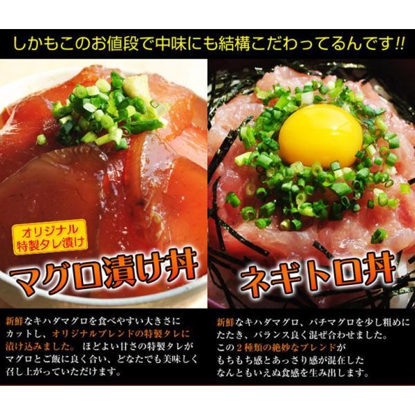 『まぐろ丼セット(マグロ漬け2P・ネギトロ2P)』 合計4P ※冷凍 sea ○ tsukijiichiba 02