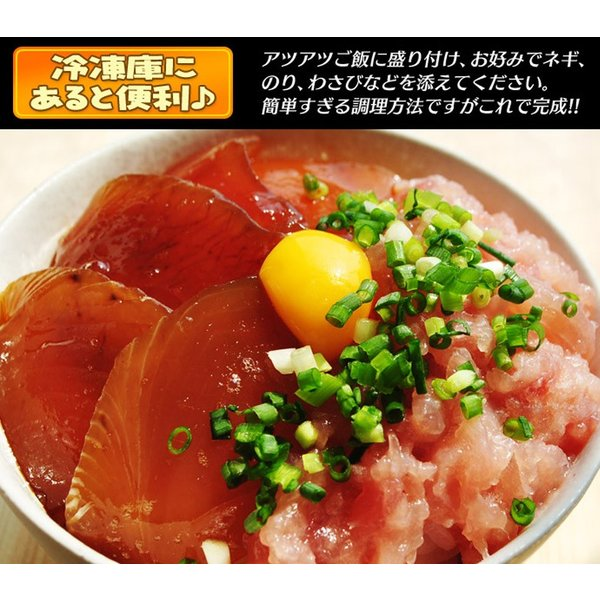 『まぐろ丼セット(マグロ漬け2P・ネギトロ2P)』 合計4P ※冷凍 sea ○ tsukijiichiba 05