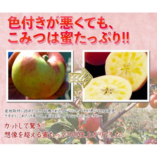 林檎 リンゴ 青森県産 ちょっと訳あり こみつりんご 6〜12玉 約2kg 秀A品 ムラ・小さな傷あり 常温 4箱まで同一配送先に送料1口で配送可能 tsukijiichiba 04
