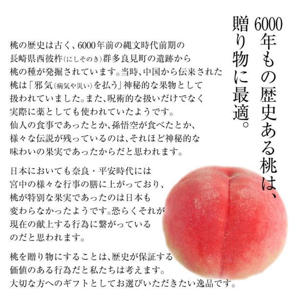 もも 桃 モモ 福島県産 献上桃の郷 桑折町 特選「雅」 約1.5kg(5〜6玉) 常温 送料無料 ギフト 贈答|tsukijiichiba|10