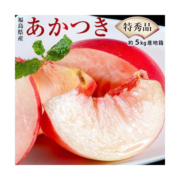 福島県産 『伊達の桃』 品種限定:あかつき 特秀品 約5kg (18〜22玉) 産地箱 ※常温 送料無料