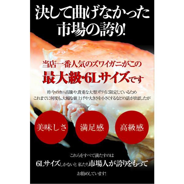 カニ かに ずわい 蟹 ロシア産 ボイルズワイガニ 6L 4肩 計2kg 大盛り 食べ放題 冷凍 送料無料 ギフト|tsukijiichiba|06