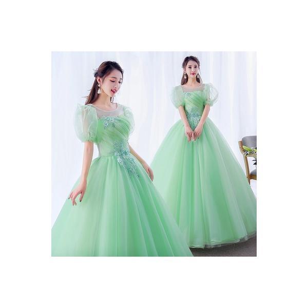 レディース ドレス カラードレス パーティドレス ロングドレス イブニングドレス 舞台 ステージ衣装