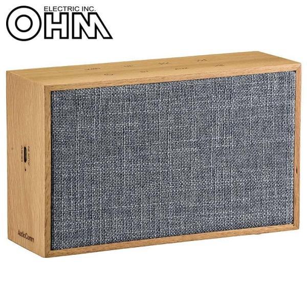 OHM AudioComm ワイヤレスステレオスピーカー ブルー ASP-W220N-A