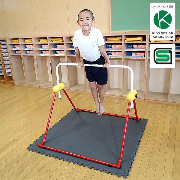 鉄棒 日本製 子供用鉄棒 ツムラこども鉄棒 逆上がりのコツDVD付 組立不要 耐荷重70kg|tsumura