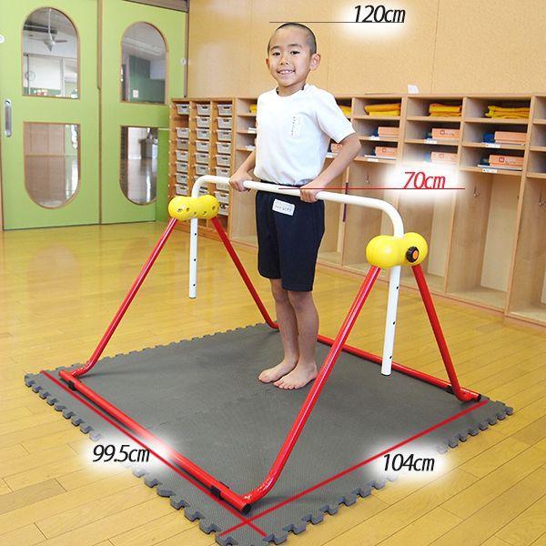 鉄棒 日本製 子供用鉄棒 ツムラこども鉄棒 逆上がりのコツDVD付 組立不要 耐荷重70kg|tsumura|02