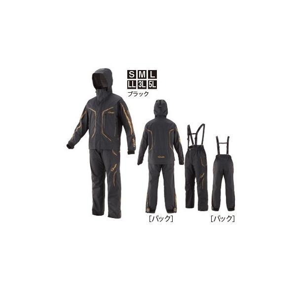 がまかつ ゴアテックス (R) オールウェザースーツ GM-3611 ブラック 5Lサイズ / レインウェア (送料無料) [お取り寄せ] (セール対象商品)|tsuribitokan-masuda