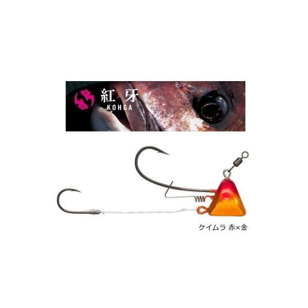 ダイワ 紅牙 タイカブラSSプラスエビロック ケイムラ 赤×金 15号 / 鯛ラバ タイラバ (メール便可)|tsuribitokan-masuda
