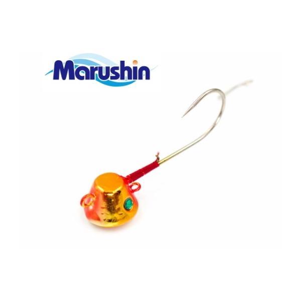 マルシン漁具 TRD一つテンヤ オレンジゴールド 5号 / 鯛ラバ タイラバ (メール便可)
