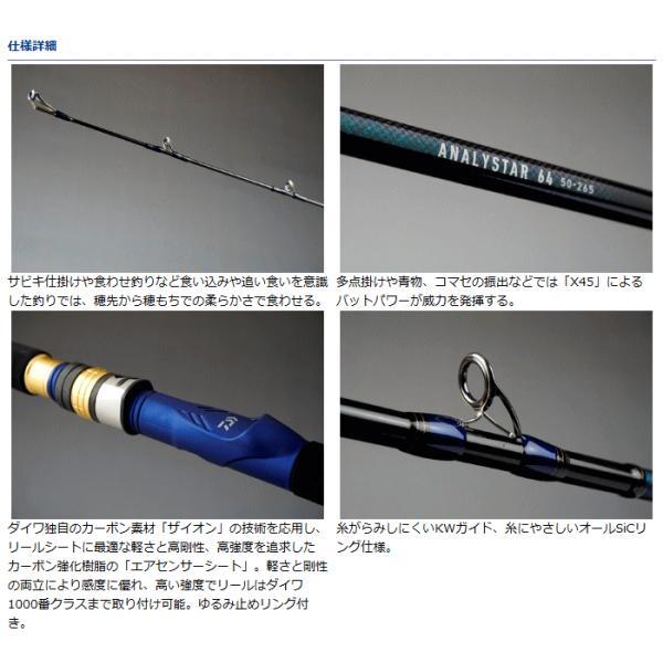 船竿 ダイワ アナリスター 64 50-235  (お取り寄せ商品)|tsuribitokan|02