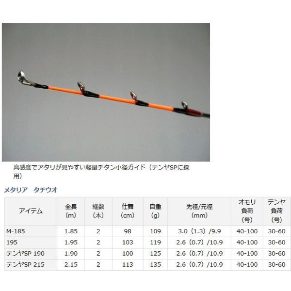 (ポイント3倍) 船竿 ダイワ メタリア タチウオ M-185 (D01) (O01)