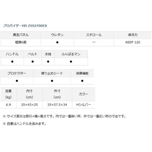 ダイワ プロバイザー HD ZSS 2700EX Hシルバー / クーラーボックス|tsuribitokan|03