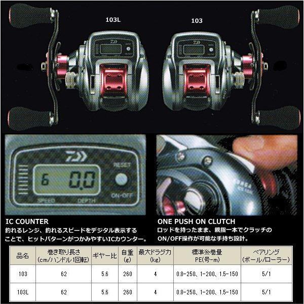 ダイワ 紅牙 ICS 103 右ハンドル|tsuribitokan|02