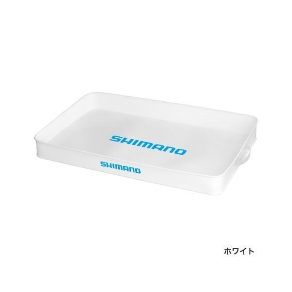 シマノ トランクタックルトレー (ハードタイプ) BK-032Q ホワイト Lサイズ (O01) (S01)