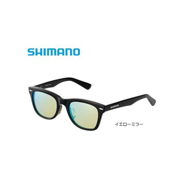 シマノ バルバロス ウェリントンタイプ LU-101S ブラック/イエローミラー / 偏光サングラス (S01) (O01) (送料無料)