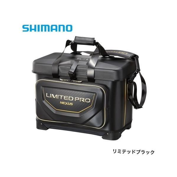 シマノ 磯クール リミテッドプロ BA-112S リミテッドブラック 25L / 磯バッグ (S01) (O01)