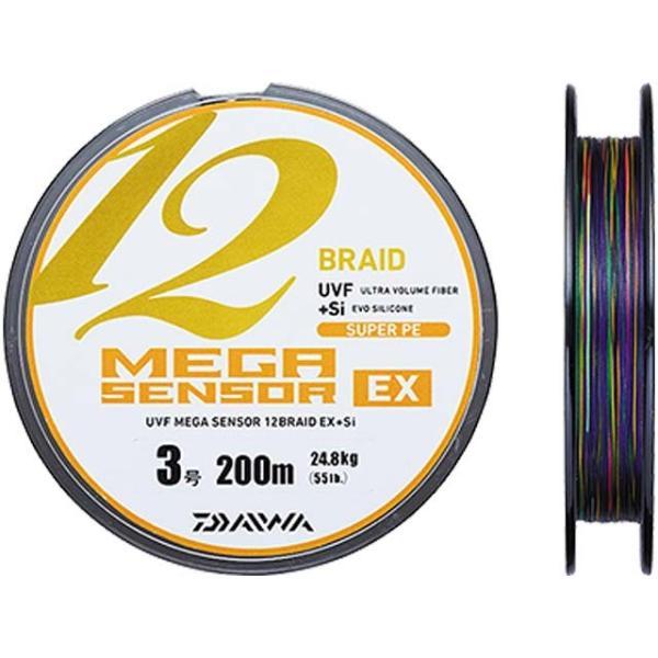 ダイワ/DAIWA UVFメガセンサー 12ブレイドEX+Si 連結100m巻 3.0号(強力:24.8kg)