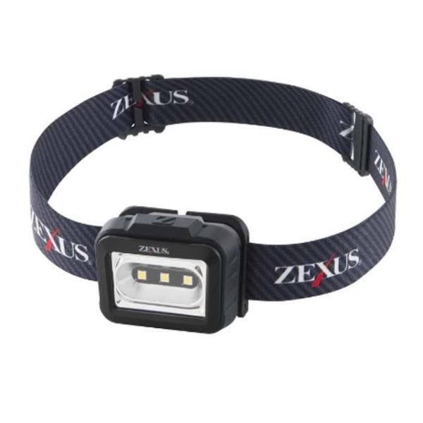 ゼクサス/ZEXUS ZX-155 (高性能白色3LEDヘッドライト IPX4防水 明るさ:160ルーメン 単4電池×3使用)