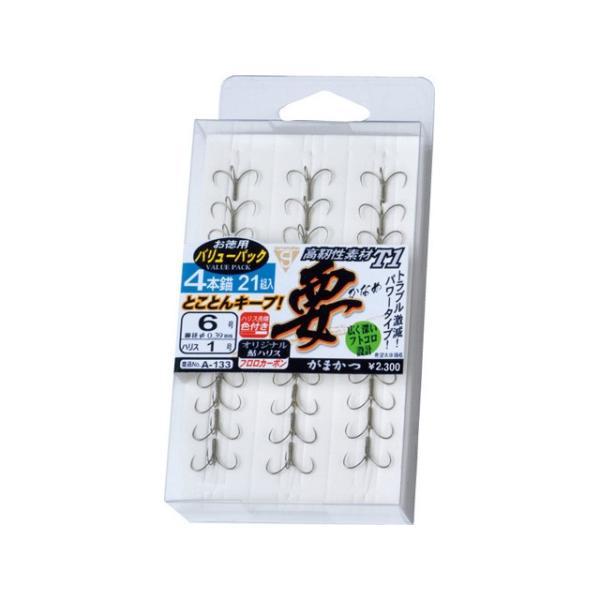 がまかつ/Gamakatsu 11665 バリューパック T1 要 4本錨 (VPかなめ 鮎・友釣り用イカリ針)