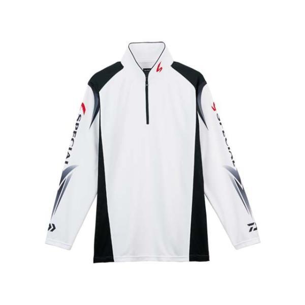 ダイワ/DAIWA DE-7207 スペシャル ウィックセンサー ジップアップ長袖メッシュシャツ カラー:ホワイト