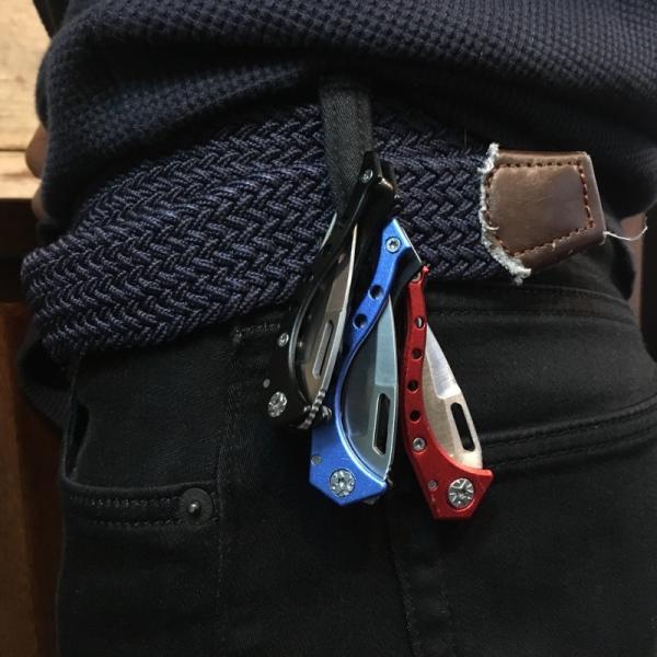 ポケット フォールディング カラビナ ナイフ C-118 新品 折りたたみナイフ フィッシングナイフ アウトドア 釣りナイフ tsuriking 04