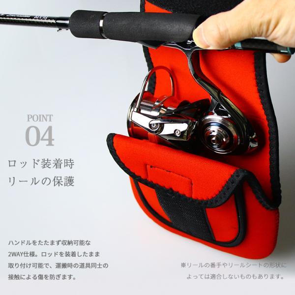 ネオプレーンリールポーチ スピニング用 Mサイズ シマノ ダイワ  リールケース リールカバー|tsuriking|06