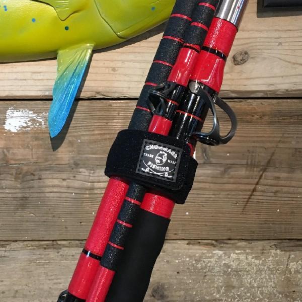 ロッドベルト 2本セット シマノ ダイワ 伸縮性抜群 ロッド ベルト 石鯛竿 クエ竿 4本継もしっかり固定 クロロプレン素材使用 CHONMAGE FISHING|tsuriking|07
